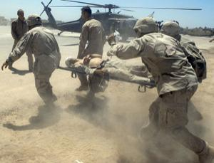 Keeping a solider alive long enough to reach hospital