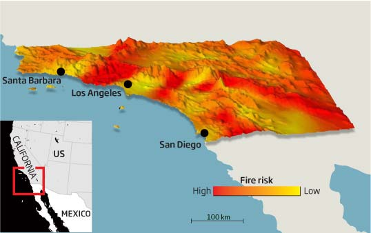 Weather model shows where California will burn