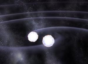Pairs of white dwarfs that merge and explode could be responsible for creating type 1a supernovae (Illustration: NASA/CXC/M Weiss)
