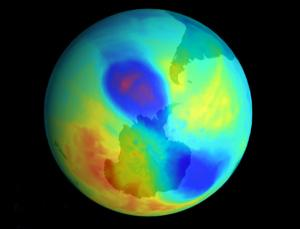 The ozone hole was until recently a growing problem