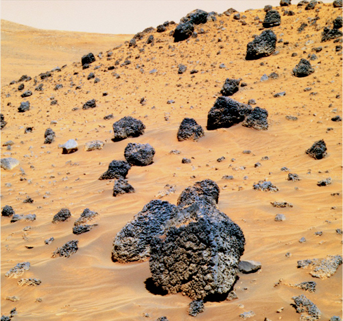 Could microbes be hiding under the rocks on Mars?