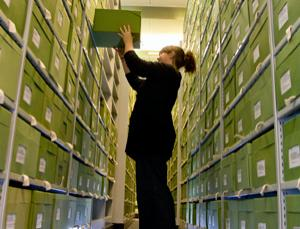 Deep in the archives at Kew