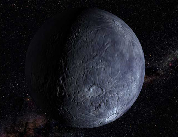 Quaoar, a large object in the outer solar system, is mostly made of rock, unlike its icy neighbours (Illustration: NASA/G. Bacon/STScI)