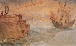 The story goes that Archimedes destroyed Roman ships by focusing the sun's rays onto them – the reality may have been slightly different