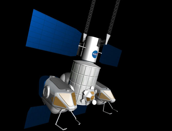 Tranquility has docking ports that could attach to smaller craft, which could detach and inspect an asteroid at close range
