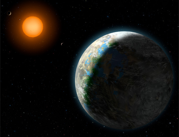 A rocky world has been found squarely in the middle of the star Gliese 581's habitable zone
