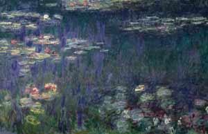 Monet's Water Lilies excites the emotional regions of the brain