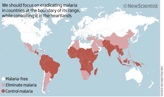 Global pincer movement could eradicate malaria