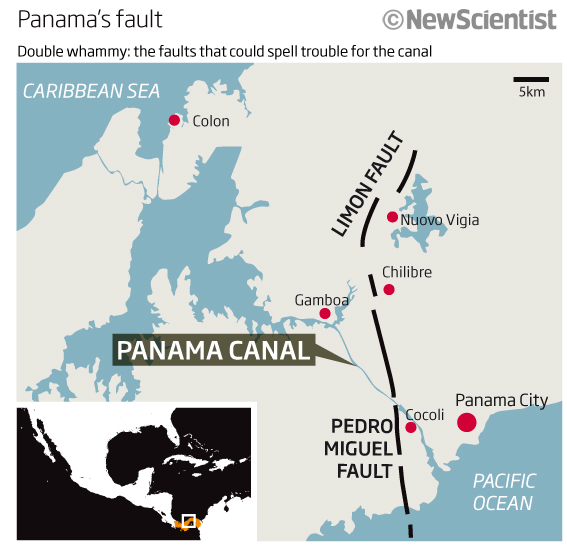 Panama canal is due a big earthquake