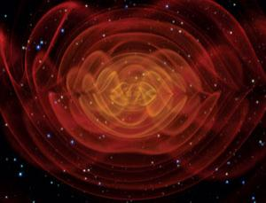 If Einstein is right, the collision of two massive objects causes ripples in space-time