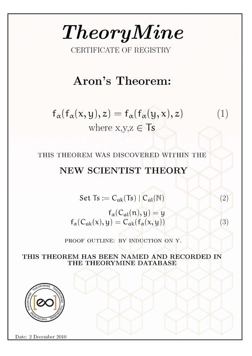 This theorem is mine