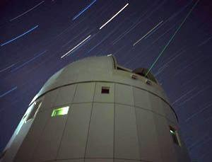 Guiding light: the tracking laser of the Tenerife observatory