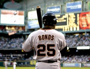 Barry Bonds in his days playing for the San Francisco Giants