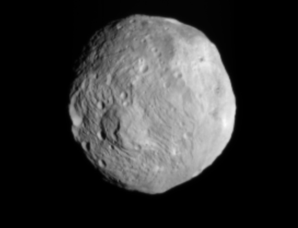 Dawn snapped this image of Vesta on 9 July from a distance of 41,000 kilometres