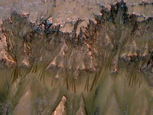 Salty flows on Mars