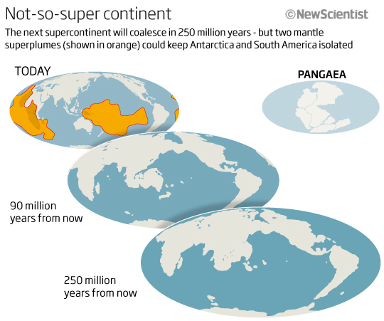 pangaea a super continent Seasonal cycle variations on the supercontinent of pangaea thomas j crowley  applied research corporation, 305 argueilo drive, college station, texas.