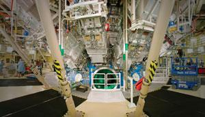 The target chamber at the National Ignition Facility