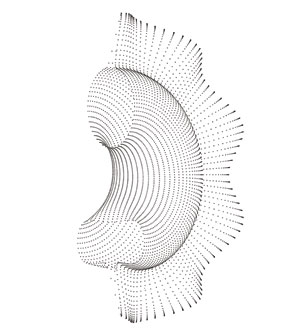 A galletti pasta shape described by Legendre's equations