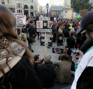 The Occupy Wall Street movement spreads to London