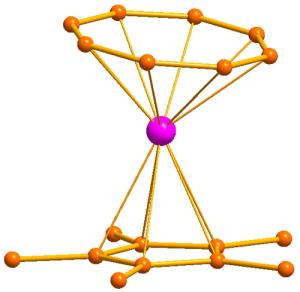 An erbium atom is brought in line by carbon ligands