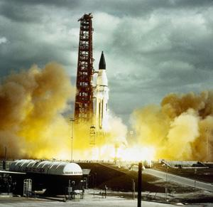 A Saturn-I rocket launching on 29 January 1964