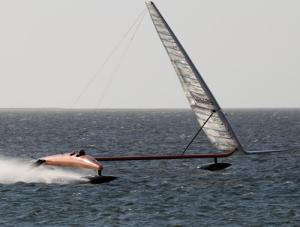 Yacht's attempt to smash sailing's 'sound barrier'