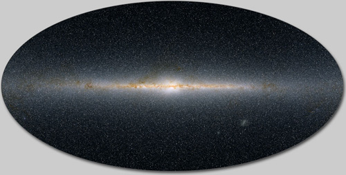 This map of the infrared Milky Way includes the light of half a billion stars