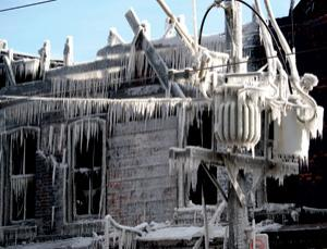 Icicles can be a menace to power lines and a sore point for passers-by