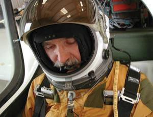 Einar Enevoldson prepares to fly in 2006