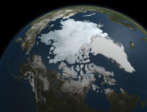 Temperatures may be fluctuating but the long-term trend is for Arctic ice to dwindle