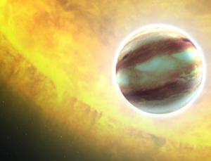 Exoplanets, as seen in this illustration, are forced to keep their distance from the star they orbit