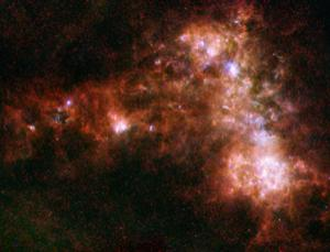 Is the Small Magellanic Cloud just passing through? ESA/NASA/JPL-Caltech/STScI