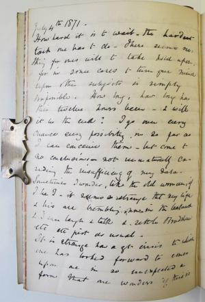 A page from Henrietta's diary