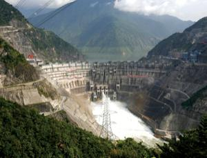The Xiaowan dam in China is one of many the nation is building on the Mekong river