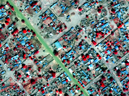 Satellite image of Am Timan, Chad