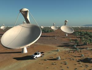 Soon to be looking into space (Image: SKA Organisation/Swinburne Astronomy Productions)