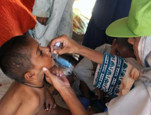 Stopping the vaccination of children in Pakistan could put the world at risk (Image: Rizwan Tabassum/AFP/Getty Images)
