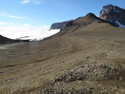 Ridge on James Ross Island, Antarctica