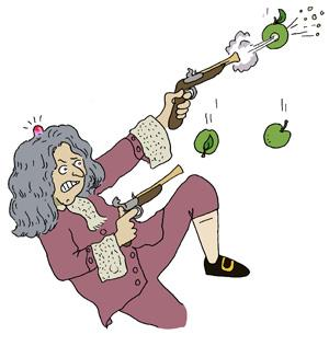 Feedback: Isaac Newton, action and reaction hero