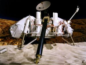 Are Martians within reach? A model of a Viking lander