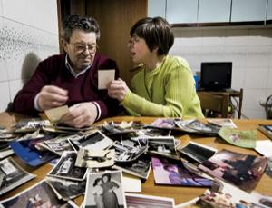 As dementia develops, memories of the past slowly slip away