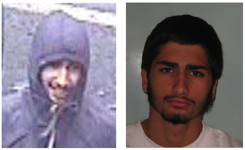 The images on the left, from CCTV footage, all led to convictions