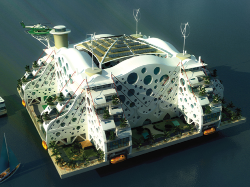Aqua towns: above a certain size, they could enjoy real autonomy