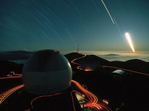 Postcard perfect: the view from the Keck Observatories in Hawaii is one of the job's perks