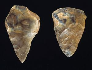 It took our ancestors 2 million years to perfect the hand axe, but that doesn't mean they lacked inventiveness. These date from about 400,000 years ago