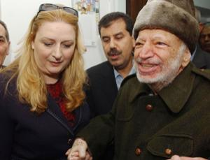 Yasser Arafat and his wife, Suha, who requested the exhumation