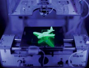For now, personal 3D printers can manage one material, like green plastic, one at a time