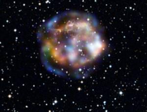 The supernova Cassiopeia A, as seen by the NuSTAR X-ray telescope