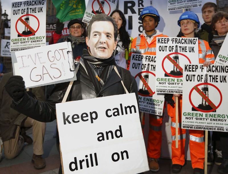 The potential use of fracking in the UK has led to protests