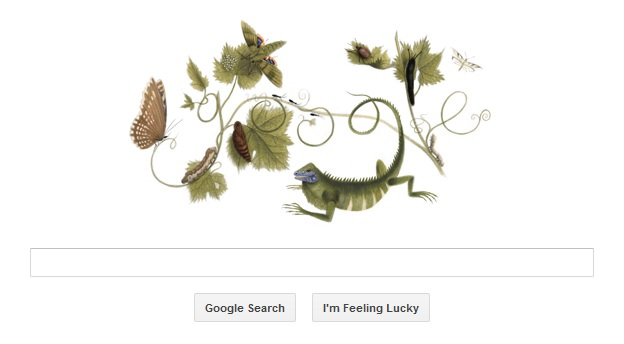 The Google home page on 2 April 2013